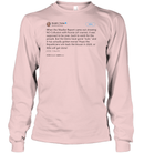 Apparel Unisex Long Sleeve Classic Tee / Light Pink / S Support Trump Twitter PL006