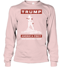 Apparel Unisex Long Sleeve Classic Tee / Light Pink / S Trump America First PT170502