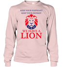 Apparel Unisex Long Sleeve Classic Tee / Light Pink / S Trump We Have A Lion PL005