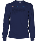 Apparel Unisex Long Sleeve Classic Tee / Navy / S Support Trump Twitter PL006