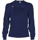 Apparel Unisex Long Sleeve Classic Tee / Navy / S Trump Quote Twitter PT170504