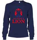Apparel Unisex Long Sleeve Classic Tee / Navy / S Trump We Have A Lion PL005