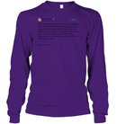 Apparel Unisex Long Sleeve Classic Tee / Purple / S Support Trump Twitter PL006
