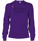 Apparel Unisex Long Sleeve Classic Tee / Purple / S Trump Quote Twitter PT170504