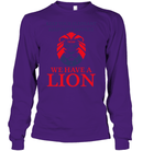 Apparel Unisex Long Sleeve Classic Tee / Purple / S Trump We Have A Lion PL005