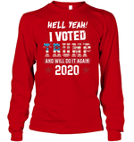 Apparel Unisex Long Sleeve Classic Tee / Red / S I Voted Trump 2020 PT170501