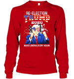 Apparel Unisex Long Sleeve Classic Tee / Red / S Re Election Trump 2020 PT170503