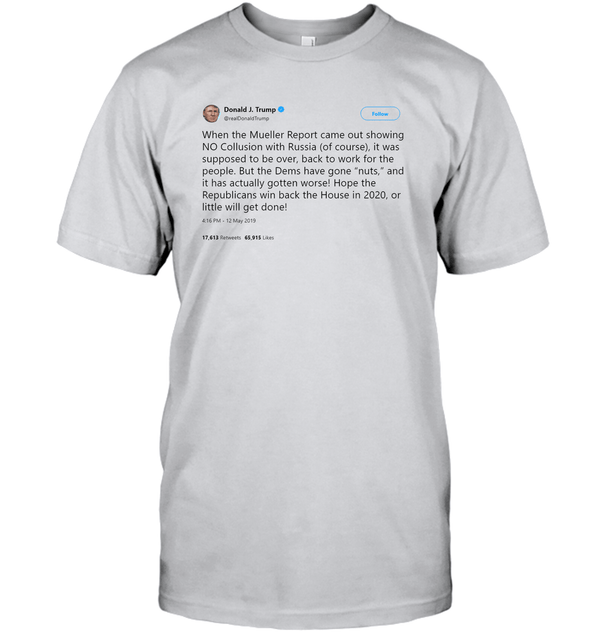 Apparel Unisex Short Sleeve Classic Tee / Ash / S Support Trump Twitter PL006