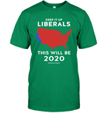 Apparel Unisex Short Sleeve Classic Tee / Black / S Keep It Up Liberals PL002