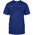 Apparel Unisex Short Sleeve Classic Tee / Deep Royal / S Support Trump Twitter PL006