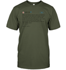 Apparel Unisex Short Sleeve Classic Tee / Fatigue Green / S Support Trump Twitter PL006