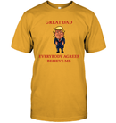 Apparel Unisex Short Sleeve Classic Tee / Gold / S Great Dad Trump 2020 PL 001