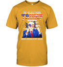 Apparel Unisex Short Sleeve Classic Tee / Gold / S Re Election Trump 2020 PT170503