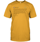 Apparel Unisex Short Sleeve Classic Tee / Gold / S Support Trump Twitter PL006