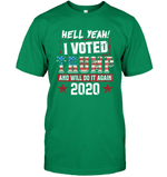 Apparel Unisex Short Sleeve Classic Tee / Kelly Green / S I Voted Trump 2020 PT170501