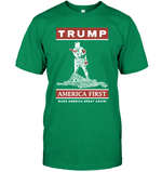 Apparel Unisex Short Sleeve Classic Tee / Kelly Green / S Trump America First PT170502