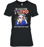 Apparel Womens Relaxed Fit Tee / Black / S Re Election Trump 2020 PT170503