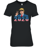 Apparel Womens Relaxed Fit Tee / Black / S Trump V-hi 2020