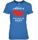 Apparel Womens Relaxed Fit Tee / Carolina Blue / S Keep It Up Liberals PL002