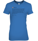 Apparel Womens Relaxed Fit Tee / Carolina Blue / S Support Trump Twitter PL006