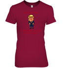 Apparel Womens Relaxed Fit Tee / Deep Red / S Great Dad Trump 2020 PL 001