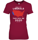 Apparel Womens Relaxed Fit Tee / Deep Red / S Keep It Up Liberals PL002