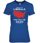 Apparel Womens Relaxed Fit Tee / Deep Royal / S Keep It Up Liberals PL002