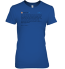Apparel Womens Relaxed Fit Tee / Deep Royal / S Support Trump Twitter PL006