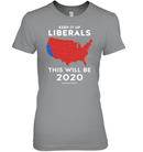 Apparel Womens Relaxed Fit Tee / Light Steel / S Keep It Up Liberals PL002