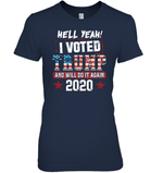 Apparel Womens Relaxed Fit Tee / Navy / S I Voted Trump 2020 PT170501
