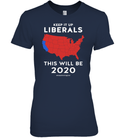 Apparel Womens Relaxed Fit Tee / Navy / S Keep It Up Liberals PL002