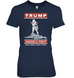 Apparel Womens Relaxed Fit Tee / Navy / S Trump America First PT170502