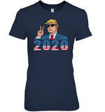 Apparel Womens Relaxed Fit Tee / Navy / S Trump V-hi 2020