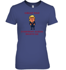 Apparel Womens Relaxed Fit Tee / Purple / S Great Dad Trump 2020 PL 001