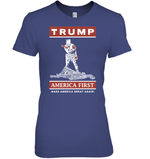Apparel Womens Relaxed Fit Tee / Purple / S Trump America First PT170502