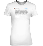 Apparel Womens Relaxed Fit Tee / White / S Trump Quote Twitter PT170504