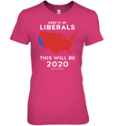 Apparel Womens Relaxed Fit Tee / Wow Pink / S Keep It Up Liberals PL002