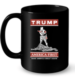 Drinkware 11oz Ceramic Mug / Black Trump America First PT170502