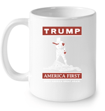 Drinkware 11oz Ceramic Mug / White Trump America First PT170502