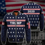 Shirts S / Bomber Jacket Maga- Keep American Great Again-Trump Flag 2020 V2