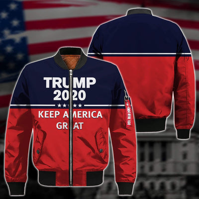 Shirts S / Bomber Jacket Maga Redline Trump Flag 2020