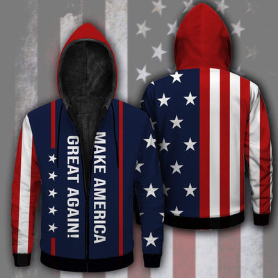 Shirts S / Fleece Jacket Maga- Keep American Great Again- Donald Trump 2020 Outfit