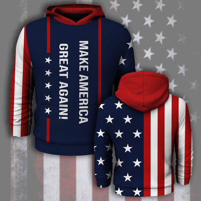 Shirts S / Hoodie Maga- Keep American Great Again- Donald Trump 2020 Outfit