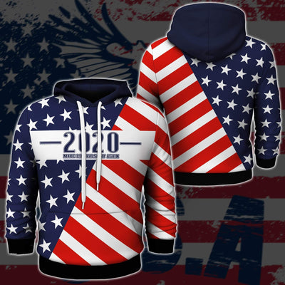 Shirts S / Hoodie Maga- Keep American Great Again-Trump Flag 2020