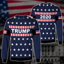 Shirts S / Sweater Maga- Keep American Great Again-Trump Flag 2020 V2