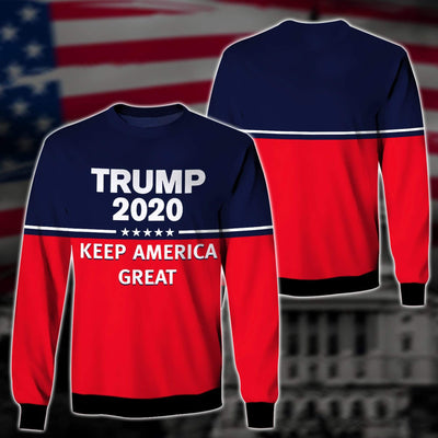 Shirts S / Sweater Maga Redline Trump Flag 2020