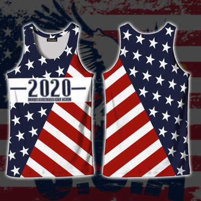 Shirts S / Tank Top Maga- Keep American Great Again-Trump Flag 2020
