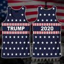 Shirts S / Tank Top Maga- Keep American Great Again-Trump Flag 2020 V2