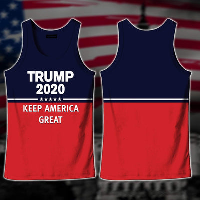 Shirts S / Tank Top Maga Redline Trump Flag 2020
