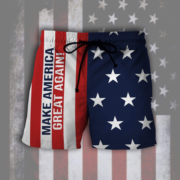 Swim Trunk S / Swim Trunk Maga- Keep American Great Again- Donald Trump 2020 Summer Swim Trunk